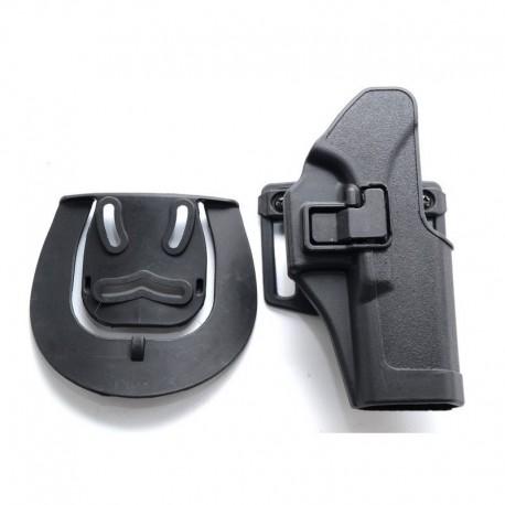 TANGO Tactical Fondina rigida tipo Serpa per Glock Nera