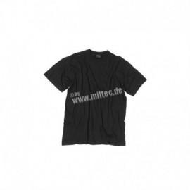 MIL-TEC T-SHIRT 100% COTONE BLACK