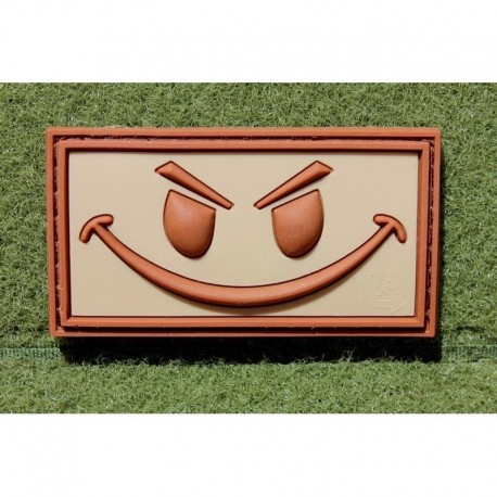 JTG Evil Smiley Rubber Patch Tan