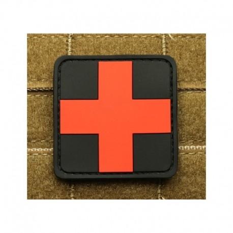 JTG Red Cross  Rubber Patch Blackmedic