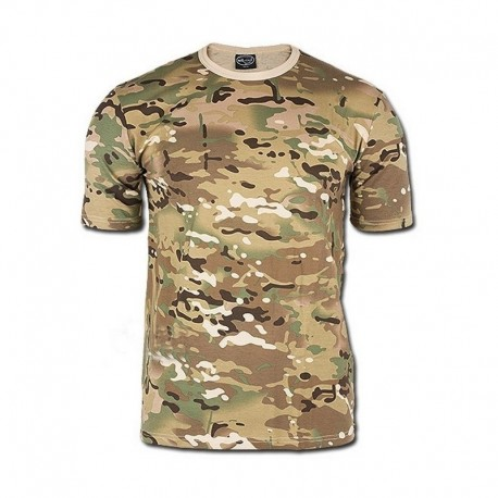 MIL-TEC T-SHIRT 100% COTTON MULTICAMO