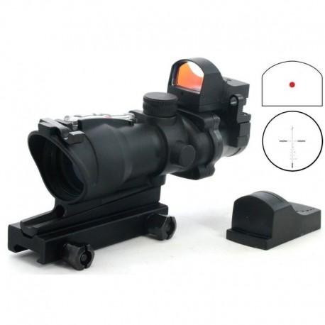 TT Optics ACOG 4X32 + integrated red dot + off set rear sight