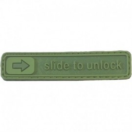 Slide to Unlock Rubber Patch OD Green
