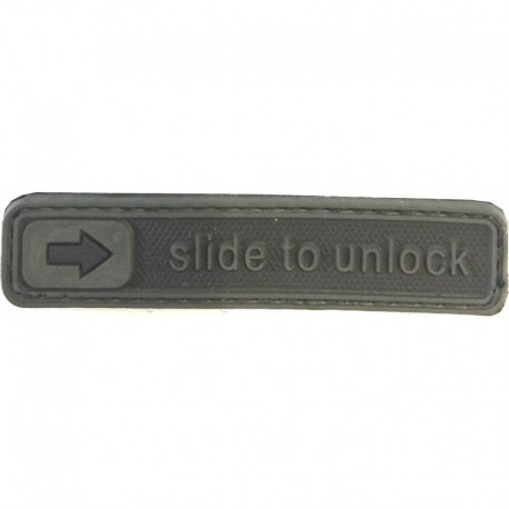 Slide to Unlock Rubber Patch Black