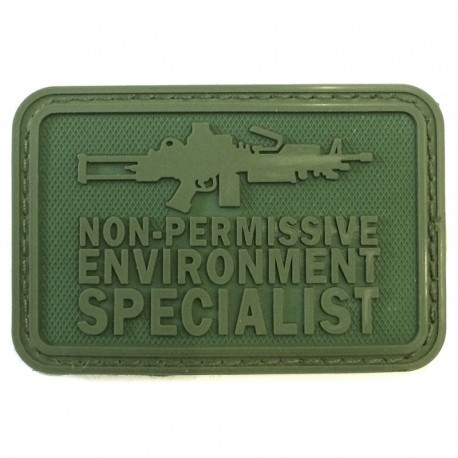 Non Permissive M249 Rubber Patch OD Green