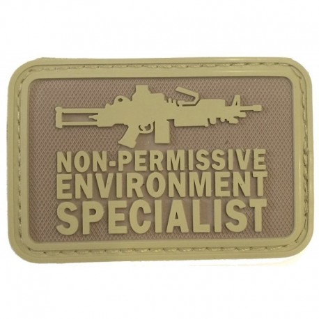 Non Permissive M249 Rubber Patch Tan