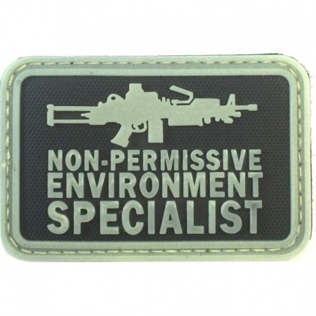 Non Permissive M249 Rubber Patch Glow in the Dark