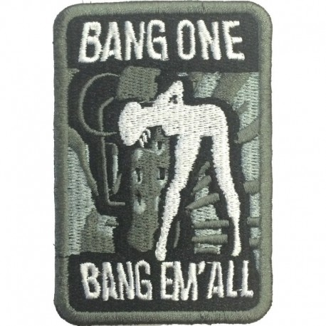 Bang em'All Embroidery Patch Ranger Green