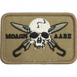 Molon 2 Embroidery Patch Tan