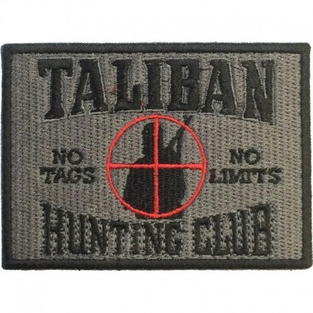 Taliban Hunting Club Embroidery Patch Grey