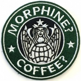 PJ Morphine Coffee Embroidery Patch