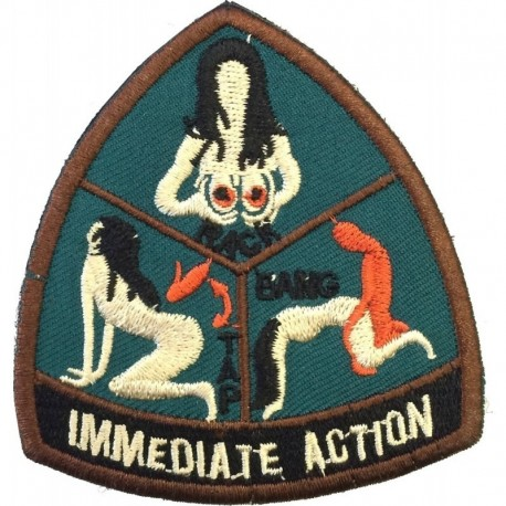 Immediate Action Embroidery Patch