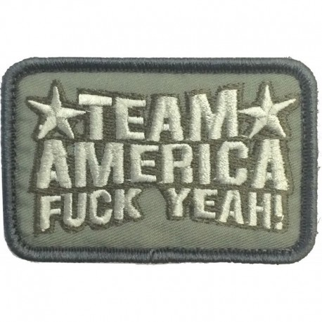 Team America Embroidery Patch Ranger Green