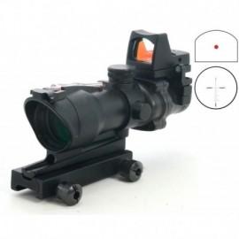 TT Ottica  ACOG 4X32 fibra ottica + red dot RMR + tacche di mira off set