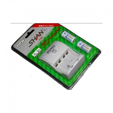 Shan Battery Kit 3.6V rechargeable CR123