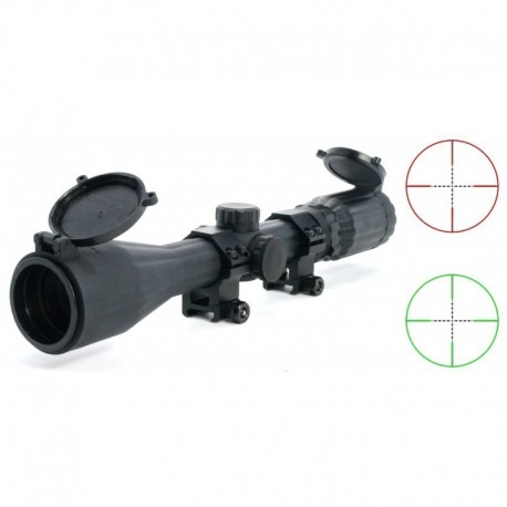 "TT Ottica 3-9x40  ""STEALTH"" illuminated mil-dot reticle red / green"
