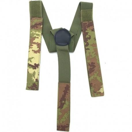 Elastic Suspenders Italian Camo Vegetato