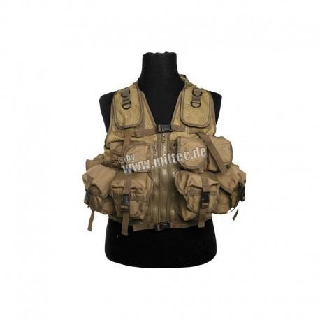 Mil-Tec Tactical Vest 9 Pouches CB