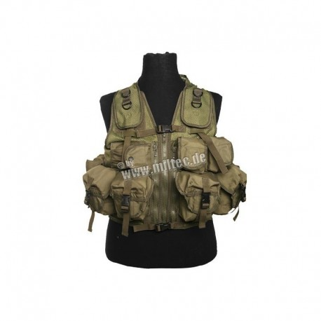 Mil-Tec Tactical Vest 9 Pouches OD GREEN