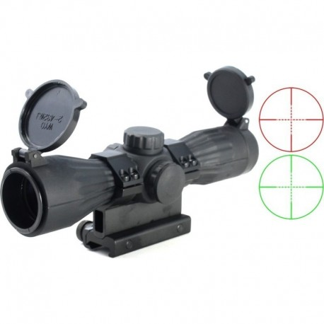 "TT Ottica 4x32 ""STEALTH Compact"" illuminated mil-dot reticle red / green"