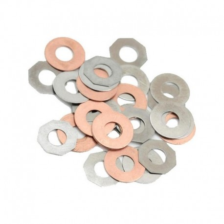 SHS steel / brass shimming set for gears (30pcs)