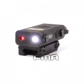 FMA AN/PEQ 10 Device with red laser and led flashlight Black