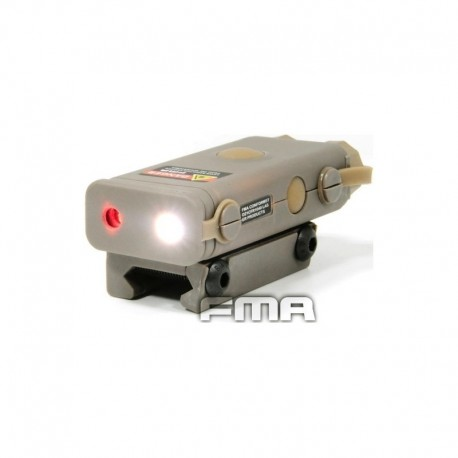FMA AN/PEQ 10 Device with red laser and led flashlight DE