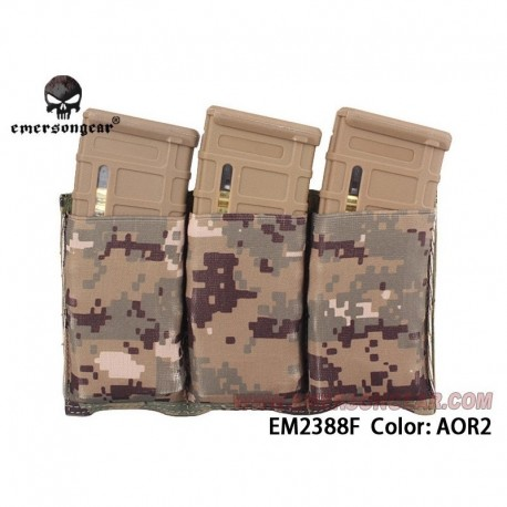 EMERSON Fast Universal Triple Mag Pouch AOR2