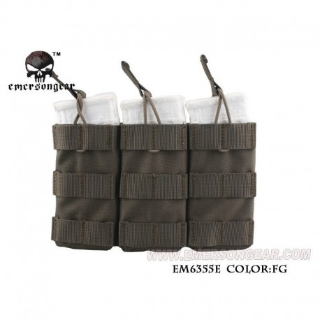 EMERSON Triple Open Top Mag Pouch RG