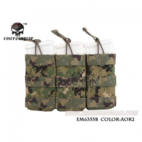 EMERSON Triple Open Top Mag Pouch AOR2