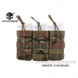 EMERSON Triple Open Top Mag Pouch Mutli camo