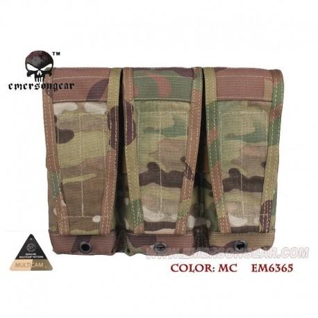 EMERSON CP Style Flap Triple Magazine Pouch Multi Camo