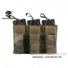 EMERSON 5.56 and Pistol Triple Open Top Magazine Pouch A-T FG