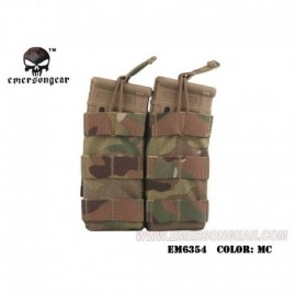 EMERSON Double Open Top Mag Pouch Mutli camo