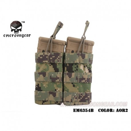 EMERSON Double Open Top Mag Pouch AOR2