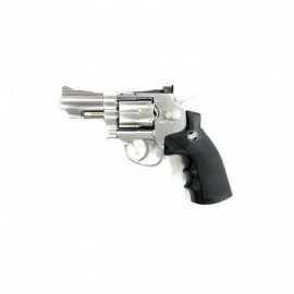 Win Gun Revolver CO2 Silver Chrome