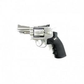 Win Gun Revolver CO2 Silver Chrome
