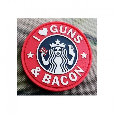 JTG Guns and Bacon Rubber Patch Fullcolor