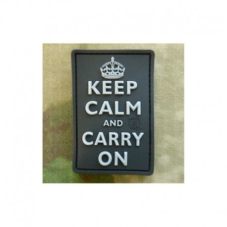 JTG Keep Calm and Carry On Rubber Patch SWAT