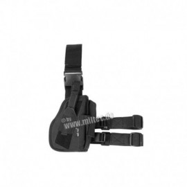 Mil-tec Right Leg Holster Black