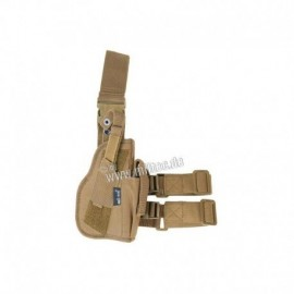 Mil-tec Right Leg Holster Coyote Brown
