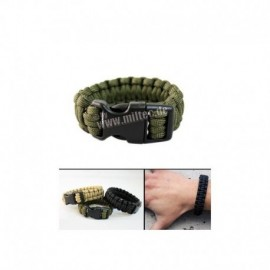 Mil-tec Bracciale in paracord OD Green