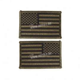 Mil-Tec coppia US Flag Patch OD Green