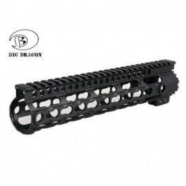 BD MI Keymod System Rail 10  Floating RAS Black