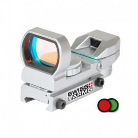 Swiss Arms Red Dot Reflex Multi Reticle Silver