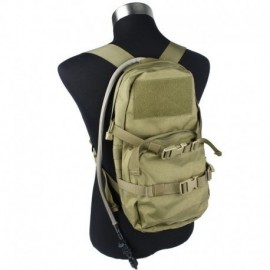 TMC MBSS Modular Assault Pack w/ 3L Hydration Bag Khaki