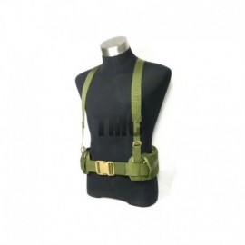 TMC MOLLE EG style MLCS Gen II Belt with suspenders OD Green