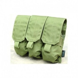 TMC M.O.L.L.E. Triple M4 Mag Pouch OD Green