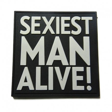 JTG Sexiest Man Alive Rubber Patch swat
