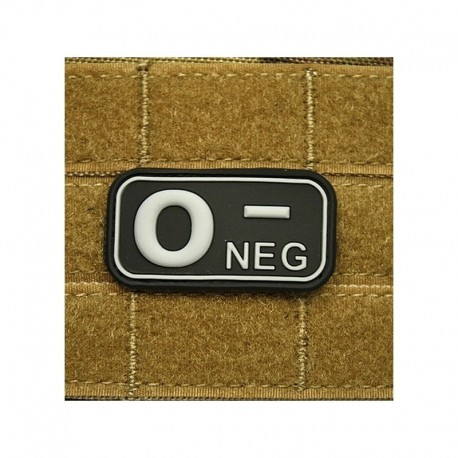 JTG Bloodtype 0 neg Rubber Patch swat